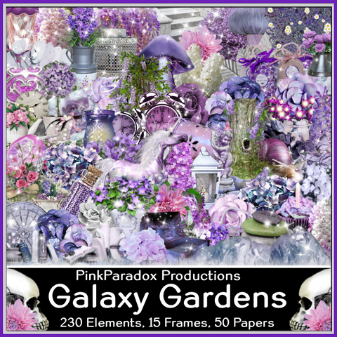 Pink Paradox Galaxy Gardens  Scrap Kit