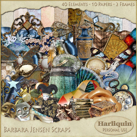 Harlequin Scrap Kit