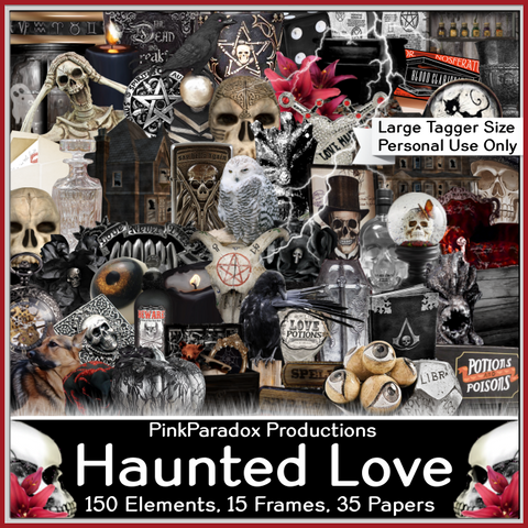 Pink Paradox Haunted Love Scrap Kit
