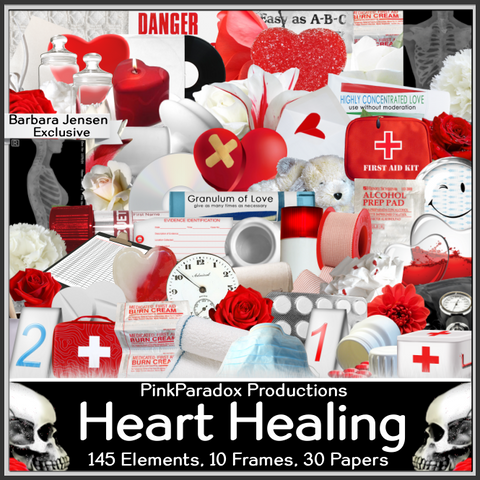 Pink Paradox Heart Healing Scrap Kit