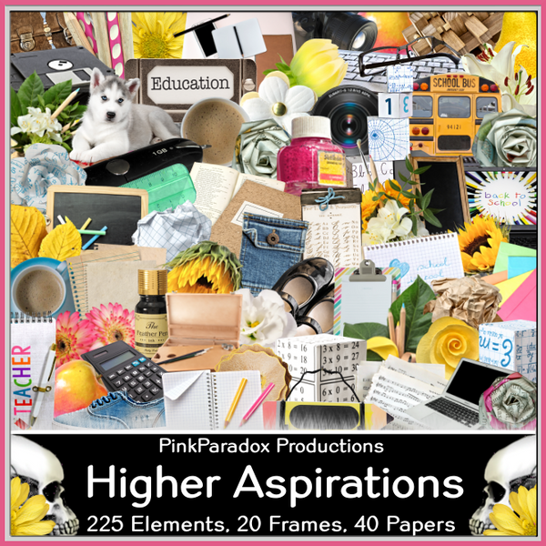 Pink Paradox Higher Aspirations Scrap Kit
