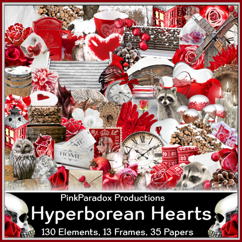 Pink Paradox Hyperborean Hearts Scrap Kit
