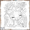 Licky Tiggy Tiger Coloring Page
