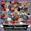 Pink Paradox London Steampunk Scrap Kit