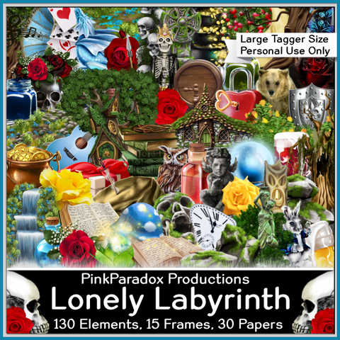 Pink Paradox Lonely Labyrinth Scrap Kit