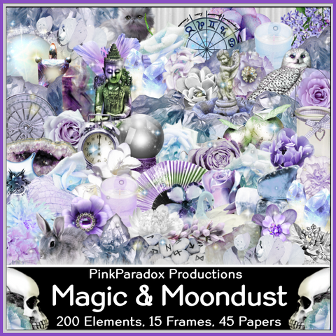 Pink Paradox Magic And Moondust Scrap Kit