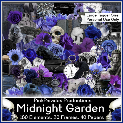 Pink Paradox Midnight Garden Scrap Kit