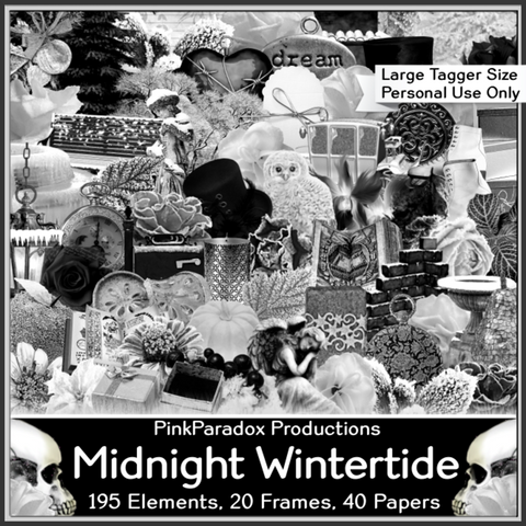 Pink Paradox Midnight Wintertide Scrap Kit