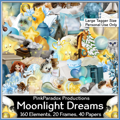 Pink Paradox Moonlight Dreams Scrap Kit