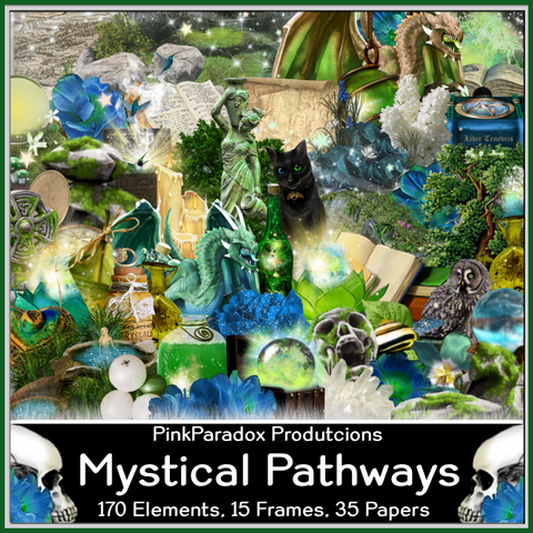 Pink Paradox Mystical Pathways Scrap Kit