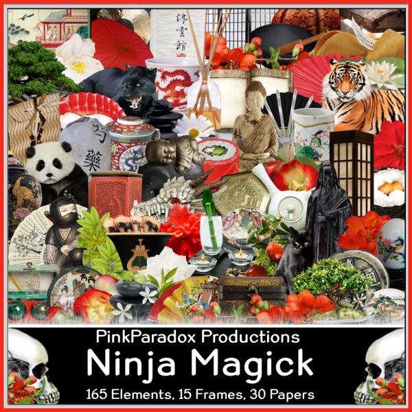Pink Paradox Ninja Magick Scrap Kit