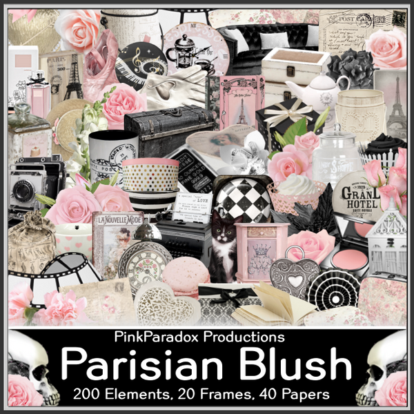 Pink Paradox Parisian Blush Scrap Kit