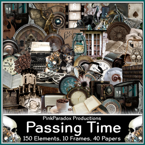 Pink Paradox Passing Time Scrap Kit