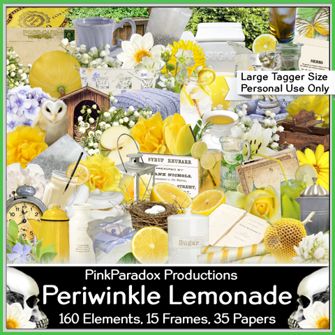 Pink Paradox Periwinkle Lemonade  Scrap Kit