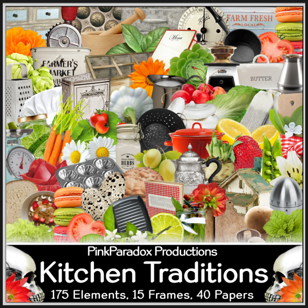 Pink Paradox Kitchen Traditions Scrap Kit