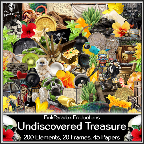 Pink Paradox Undiscovered Treasure Scrap Kit