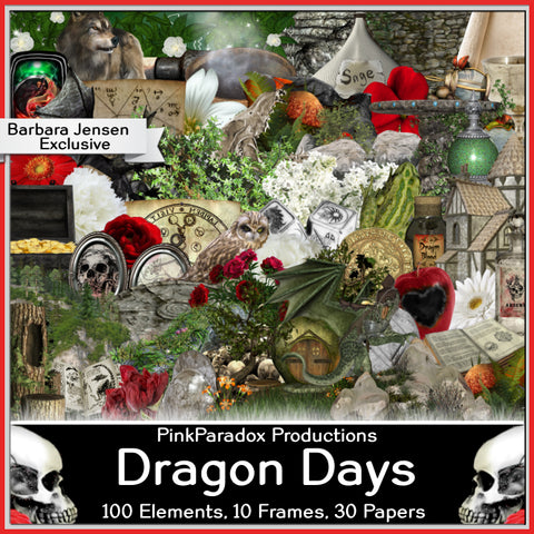 Pink Paradox Dragon Days Scrap Kit