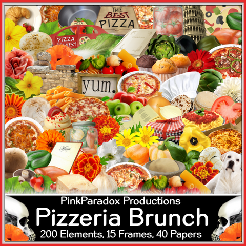 Pink Paradox Pizzeria Brunch Scrap Kit