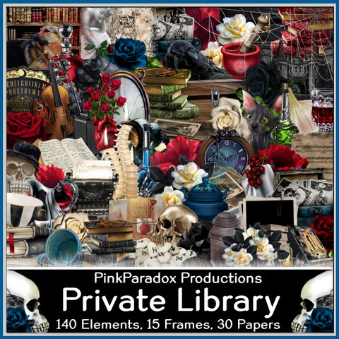 Pink Paradox Private Library Scrap Kit