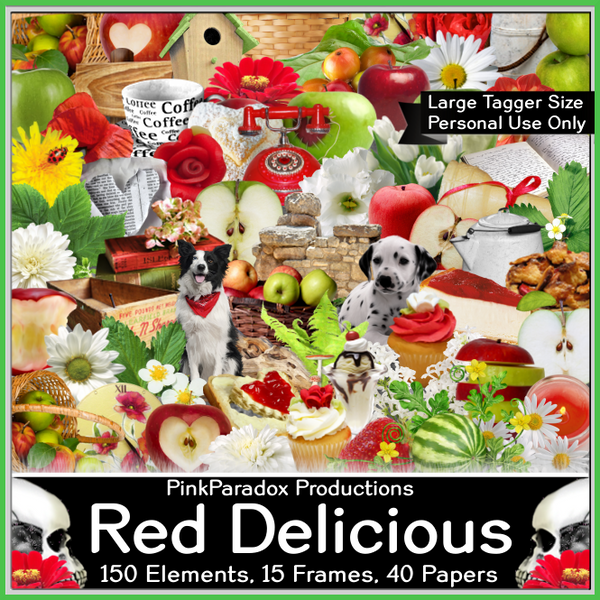 Pink Paradox Red Delicious Scrap Kit