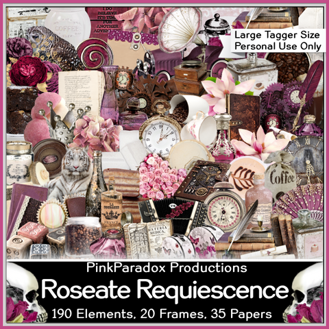 Pink Paradox Roseate Requiescence Scrap Kit