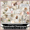 Pink Paradox Sandcastle Champagne Scrap Kit