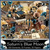 Pink Paradox Saturn's Blue Moon Scrap Kit