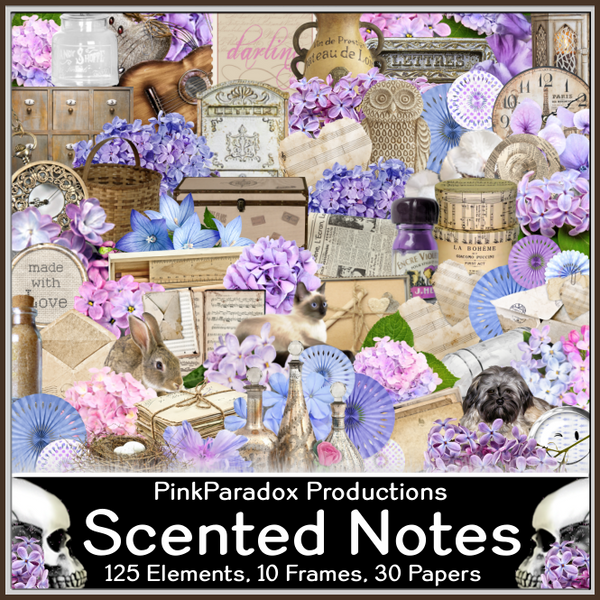 Pink Paradox Scented Notes Scrap Kit