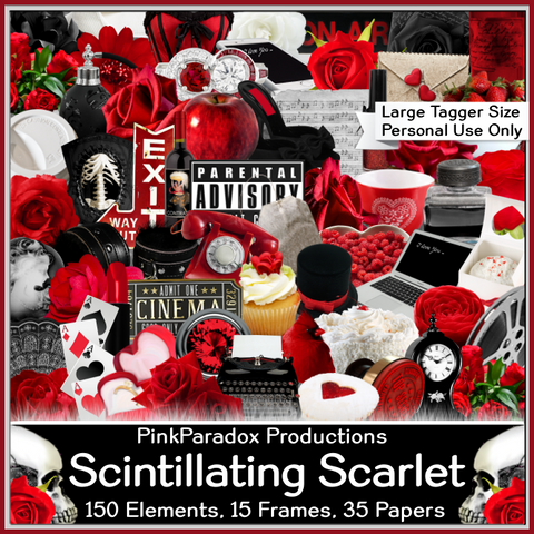 Pink Paradox Scintillating Scarlet Scrap Kit