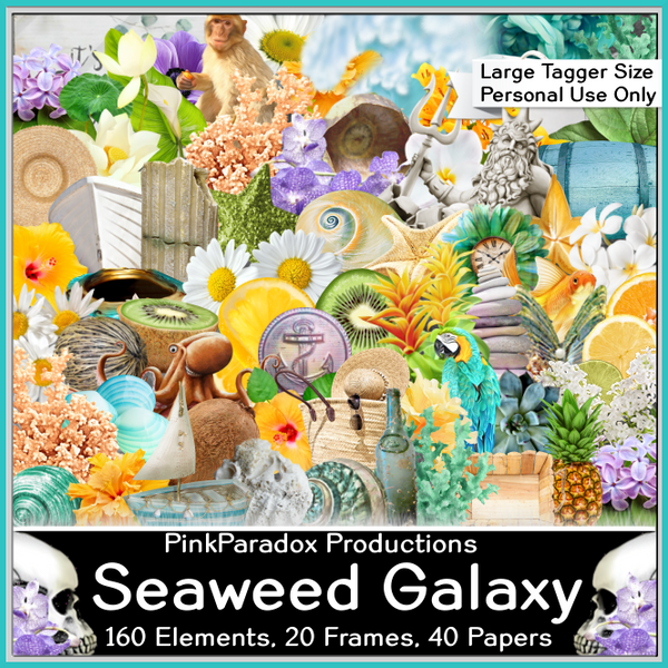 Pink Paradox Seaweed Galaxy Scrap Kit