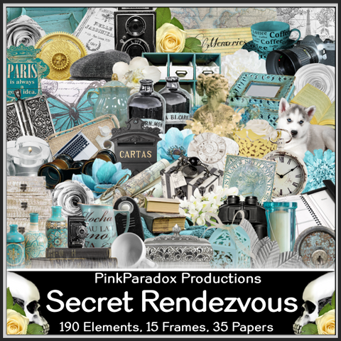 Pink Paradox Secret Rendezvous Scrap Kit