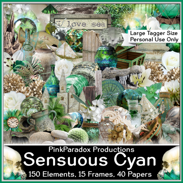 Pink Paradox Sensuous Cyan Scrap Kit