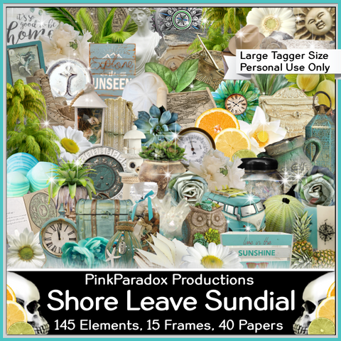 Pink Paradox Shore Leave Sundial Scrap Kit