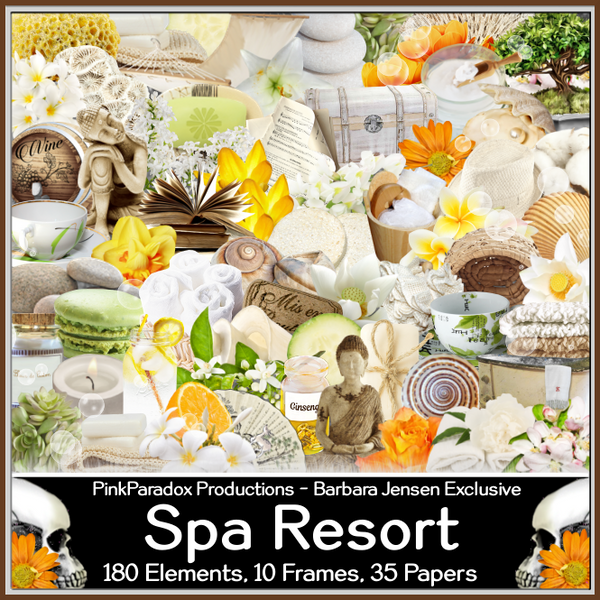 Pink Paradox Spa Resort Scrap Kit