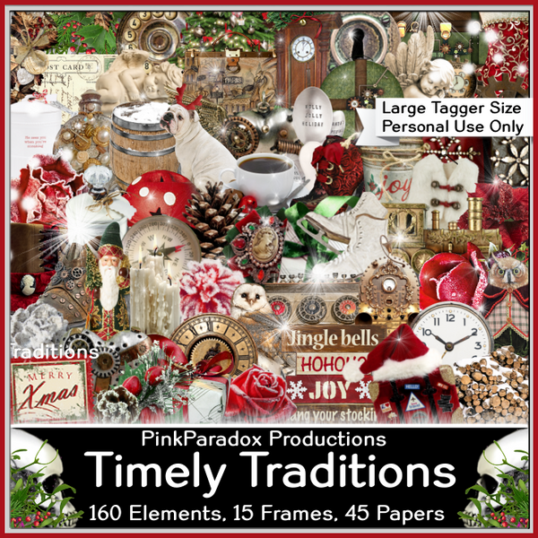 Pink Paradox Timely Traditions Scrap Kit