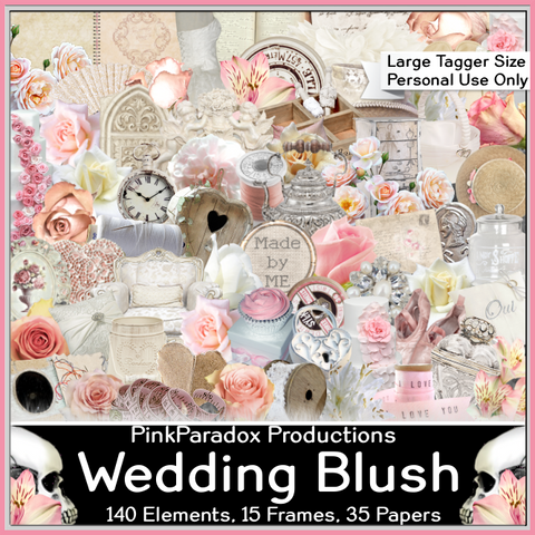 Pink Paradox Wedding Blush Scrap Kit