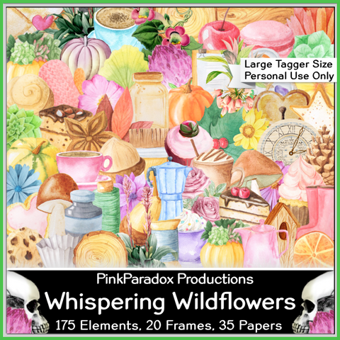 Pink Paradox Whispering Wildflowers Scrap Kit