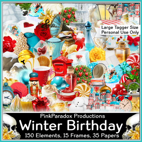 Pink Paradox Winter Birthday Scrap Kit