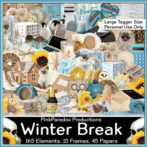 Pink Paradox Winter Break Scrap Kit