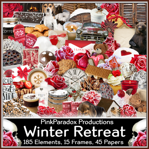 Pink Paradox Winter Retreat Scrap Kit