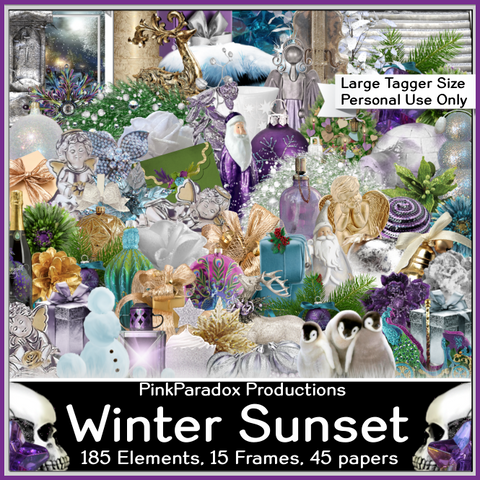 Pink Paradox Winter Sunset Scrap Kit