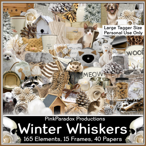 Pink Paradox Winter Whiskers Scrap Kit