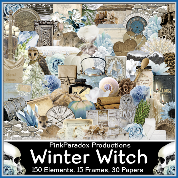 Pink Paradox Winter Witch Scrap Kit