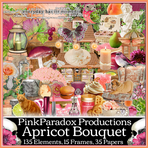 Pink Paradox Apricot Bouquet Scrap Kit