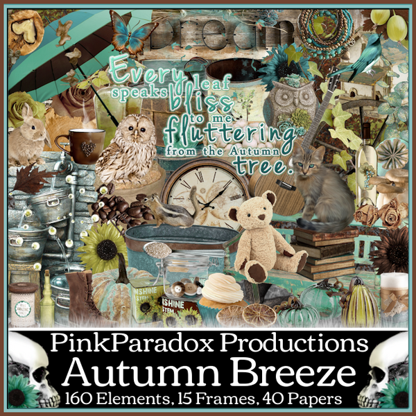 Pink Paradox Autumn Breeze Scrap Kit