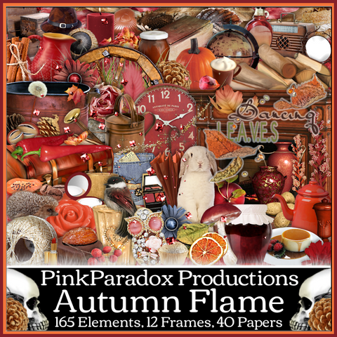 Pink Paradox Autumn Flame Scrap Kit