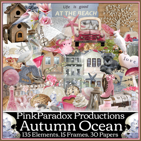 Pink Paradox Autumn Ocean Scrap Kit
