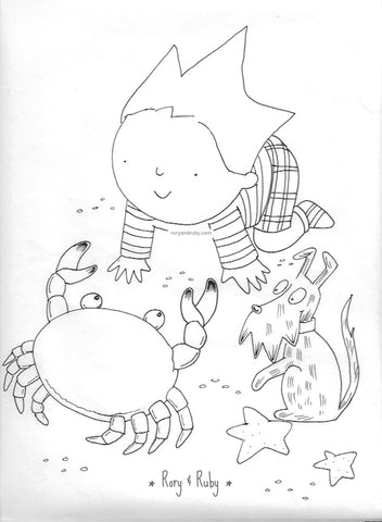 Rory & Ruby Colouring Sheet 1