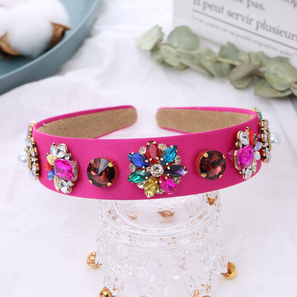 hot pink diamond headband