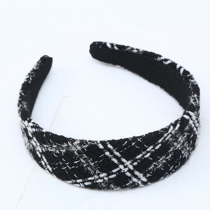 black tweed headband